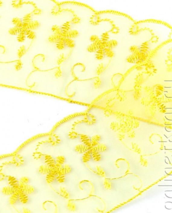 Тесьма 157 цвет желтый цветочный картинка 2