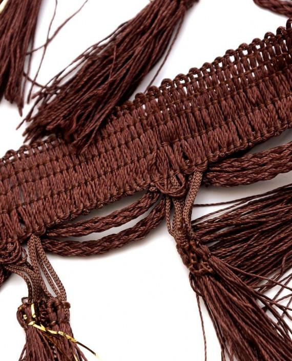 Тесьма 204 цвет коричневый картинка 2