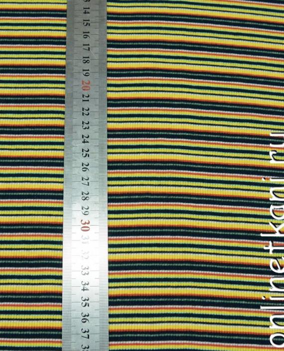Ткань Трикотаж 0022 цвет разноцветный в полоску картинка 2