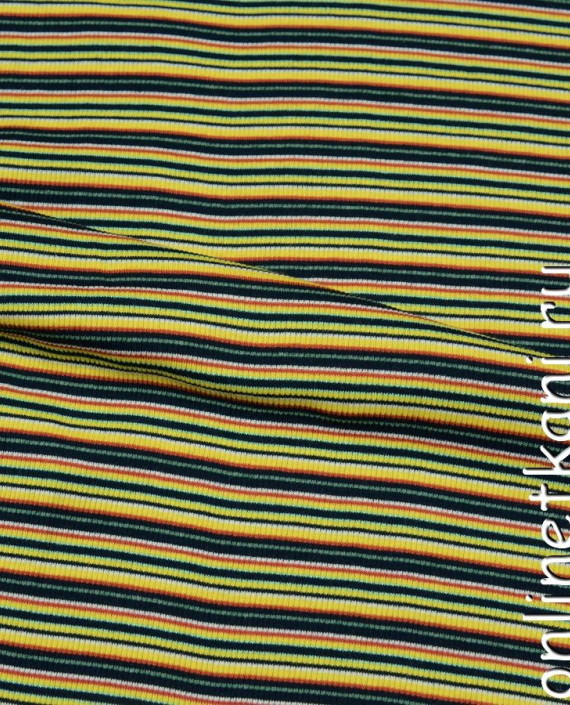 Ткань Трикотаж 0022 цвет разноцветный в полоску картинка 1