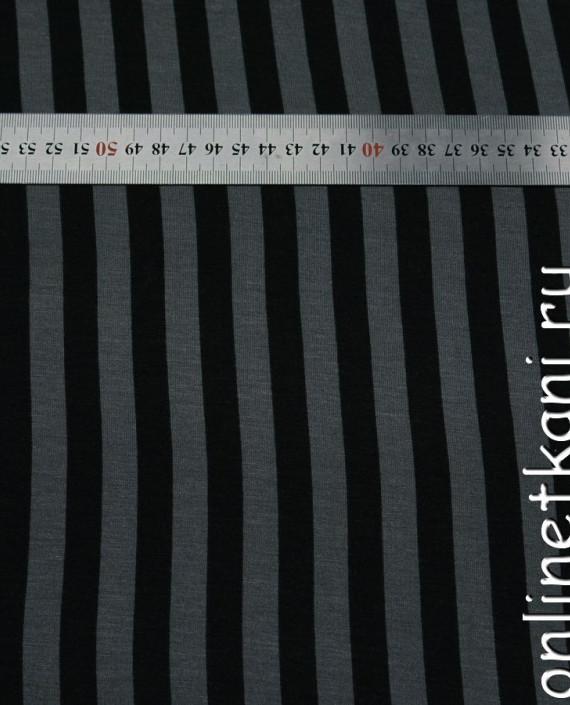 Ткань Трикотаж 0030 цвет серый в полоску картинка 2