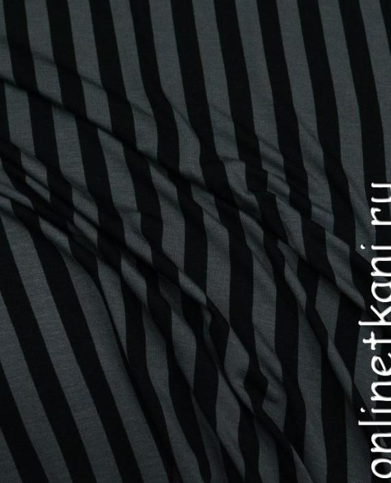 Ткань Трикотаж 0030 цвет серый в полоску картинка