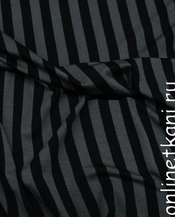 Ткань Трикотаж 0030 цвет серый в полоску картинка 1