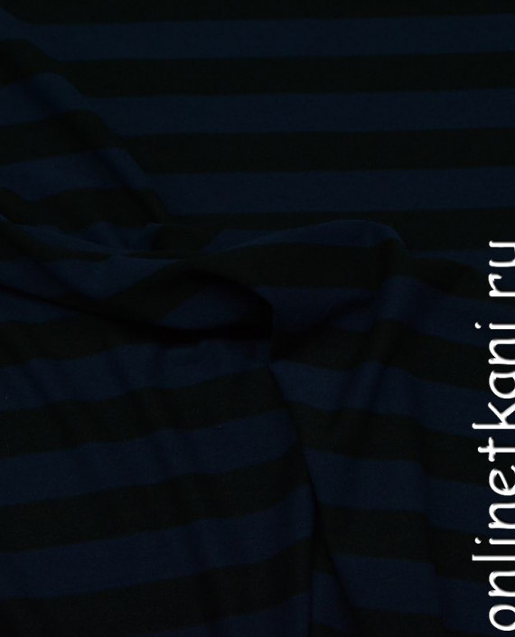 Ткань Трикотаж 0050 цвет синий в полоску картинка