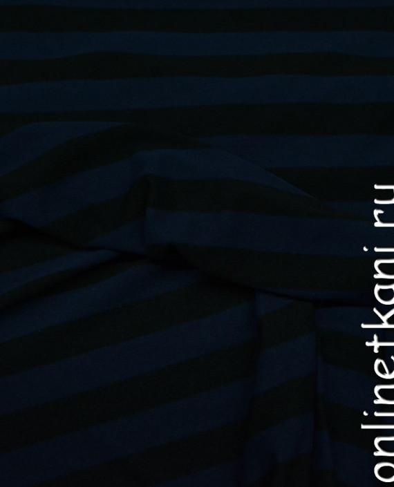 Ткань Трикотаж 0050 цвет синий в полоску картинка 2