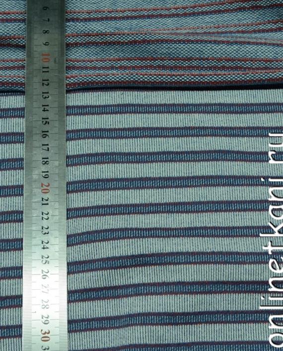 Ткань Трикотаж 0054 цвет голубой в полоску картинка 2