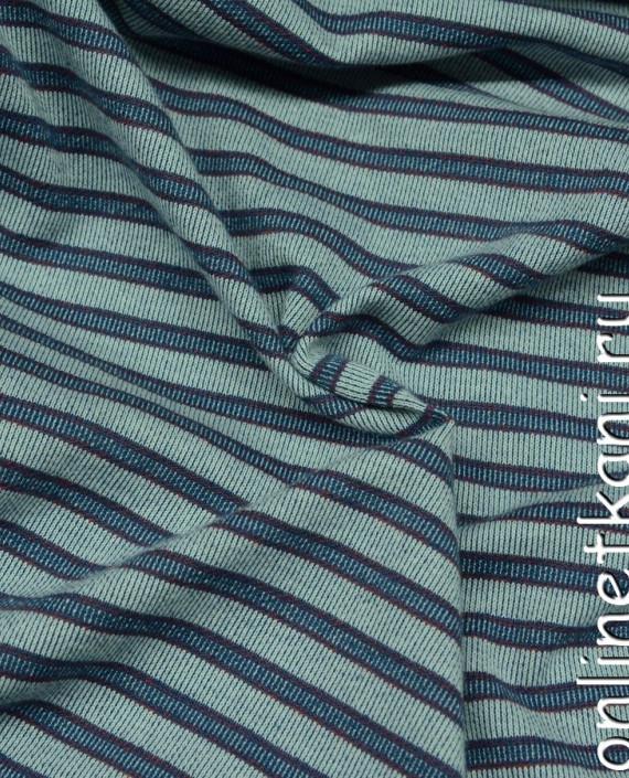 Ткань Трикотаж 0054 цвет голубой в полоску картинка