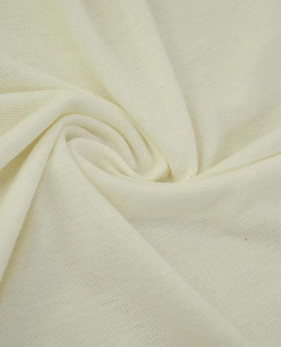 Ткань Трикотаж Пике Хлопковый 2308 цвет белый картинка
