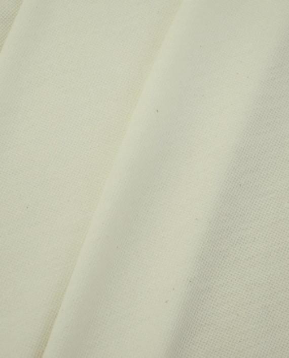 Ткань Трикотаж Пике Хлопковый 2308 цвет белый картинка 2