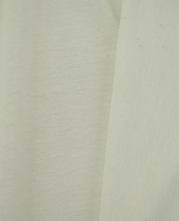 Ткань Трикотаж Пике Хлопковый 2308 цвет белый картинка 1