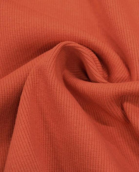 Трикотаж Рибана 3102 цвет оранжевый картинка