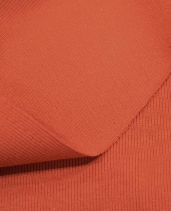 Трикотаж Рибана 3102 цвет оранжевый картинка 1