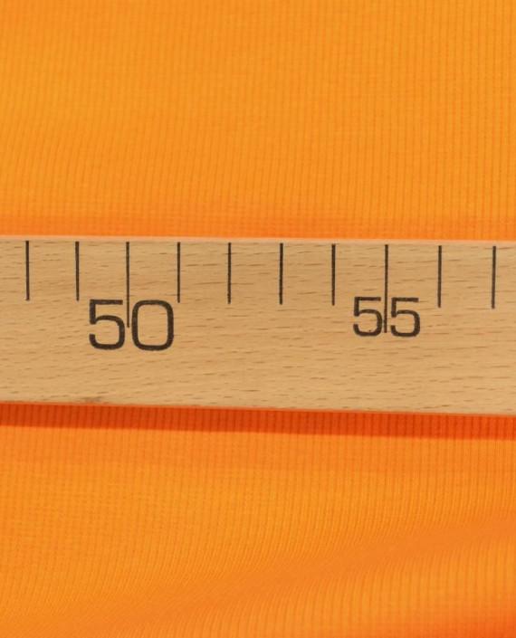 Трикотаж Рибана 3106 цвет оранжевый картинка 2