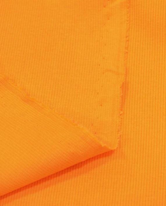 Трикотаж Рибана 3106 цвет оранжевый картинка 1