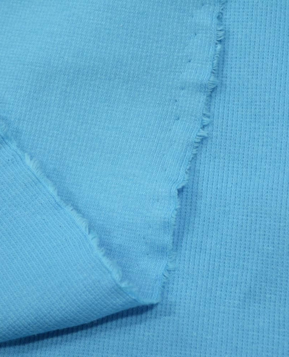 Трикотаж Рибана 3111 цвет голубой картинка 1
