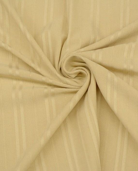 Ткань Трикотаж 1499 цвет бежевый в полоску картинка