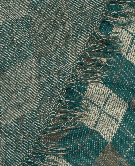 Ткань Трикотаж Вязаный 1555 цвет зеленый в клетку картинка 2