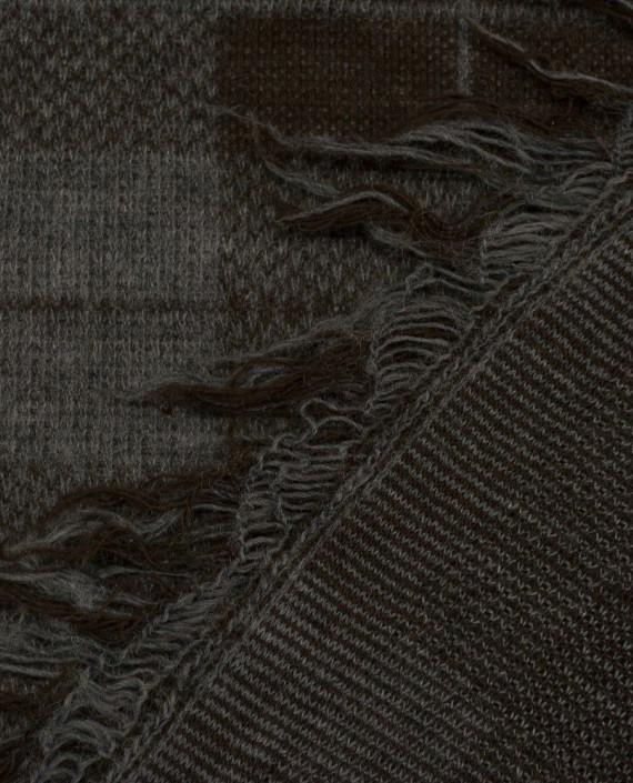 Ткань Трикотаж Вязаный 1561 цвет серый в клетку картинка 1