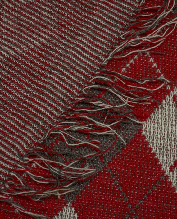 Ткань Трикотаж Вязаный 1570 цвет разноцветный в клетку картинка 1