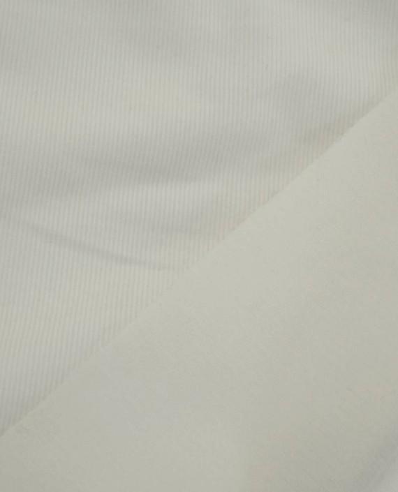 Ткань Вельвет Хлопковый 171 цвет белый картинка 1