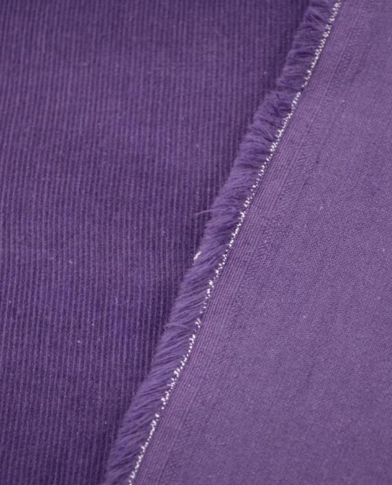 Микровельвет хлопковый 265 цвет фиолетовый полоска картинка 2