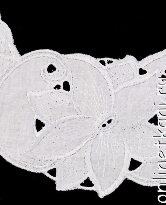 Воротник декоративный 128 цвет белый цветочный картинка 1