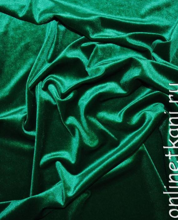 """Ткань Бархат """"Светло-зеленый"""" 013 цвет зеленый картинка"""