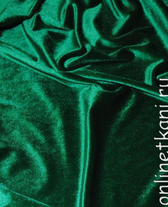 """Ткань Бархат """"Светло-зеленый"""" 013 цвет зеленый картинка 2"""