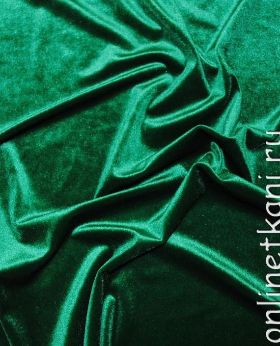 """Ткань Бархат """"Светло-зеленый"""" 013 цвет зеленый картинка 1"""
