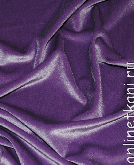 """Ткань Бархат-стрейч  """"Орхидея"""" 003 цвет сиреневый картинка"""