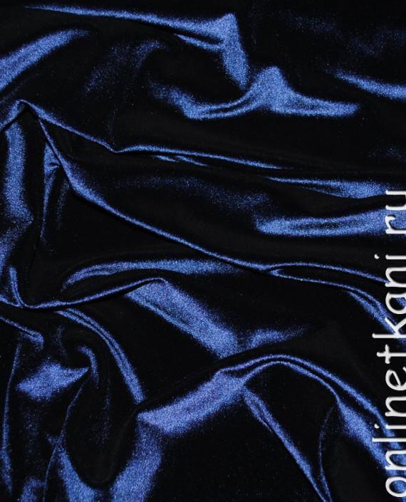 """Ткань Бархат-стрейч """"Полночь"""" 022 цвет синий картинка"""