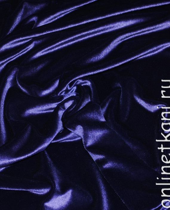 """Ткань Бархат """"Темно-фиолетовый"""" 009 цвет фиолетовый картинка"""