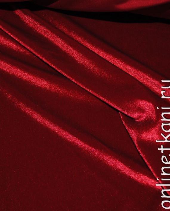 """Ткань Бархат-стрейч """"Красный"""" 006 цвет красный картинка 3"""