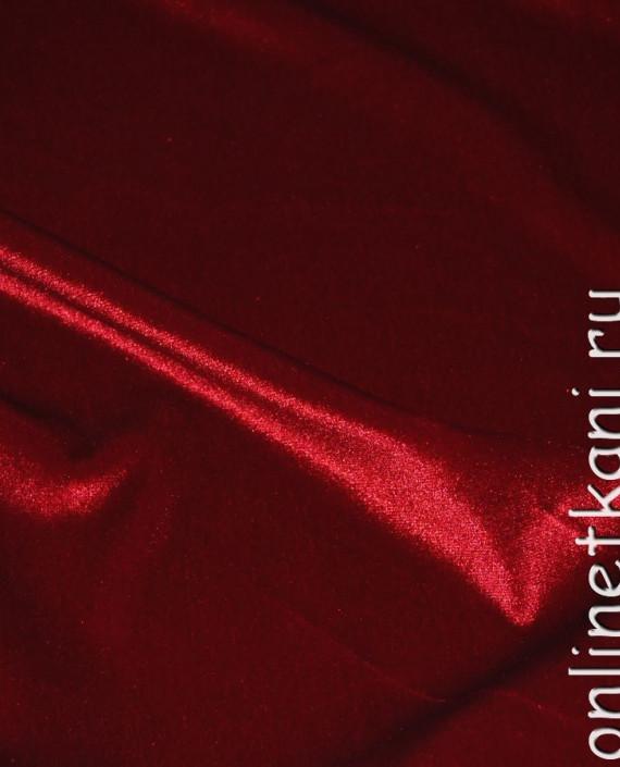 """Ткань Бархат-стрейч """"Красный"""" 006 цвет красный картинка 1"""