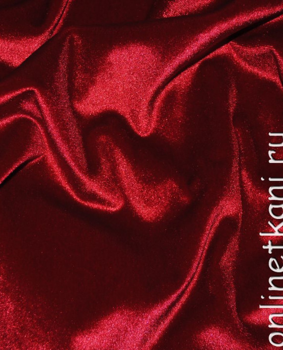 """Ткань Бархат-стрейч """"Красный"""" 006 цвет красный картинка 2"""