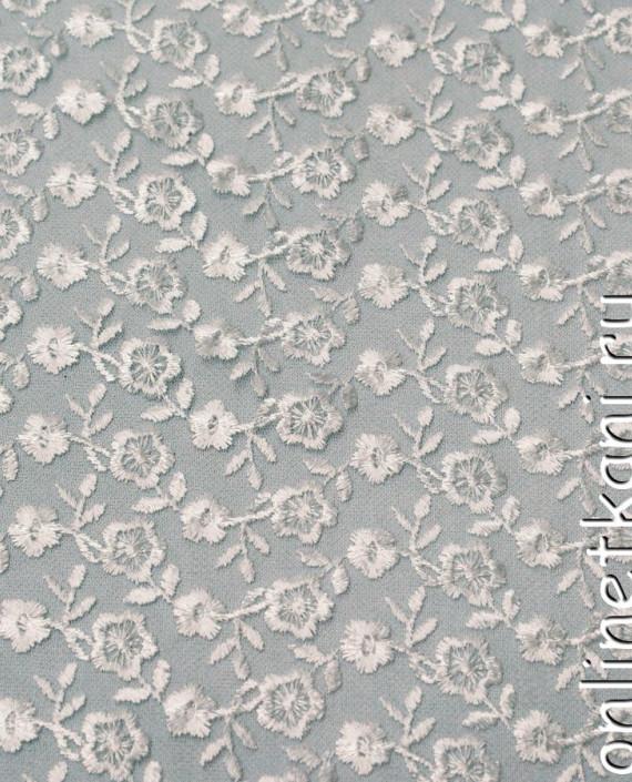 Ткань Гипюр 080 цвет белый цветочный картинка