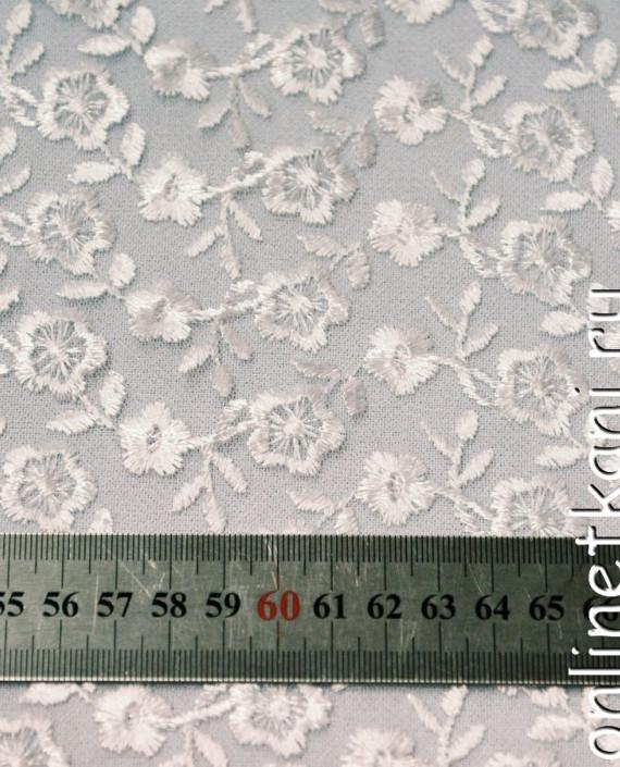 Ткань Гипюр 080 цвет белый цветочный картинка 2