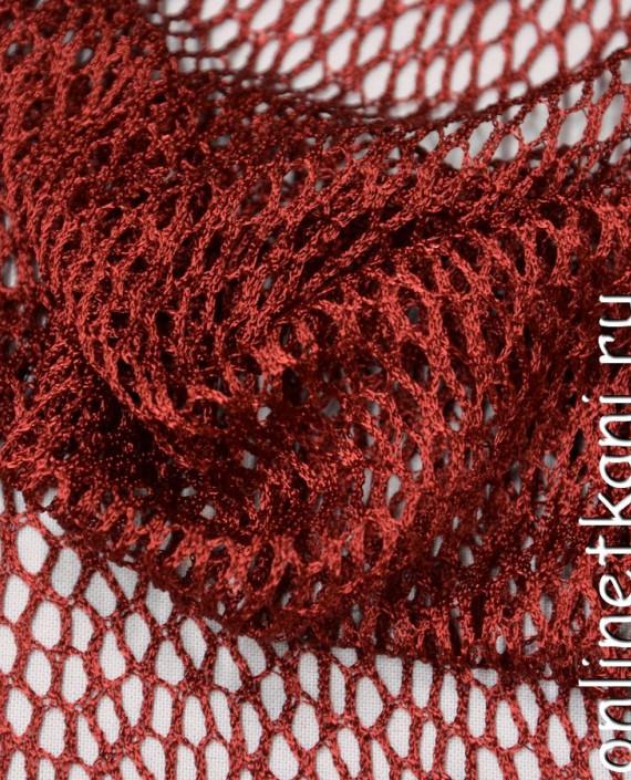 Ткань Сетка 085 цвет красный геометрический картинка