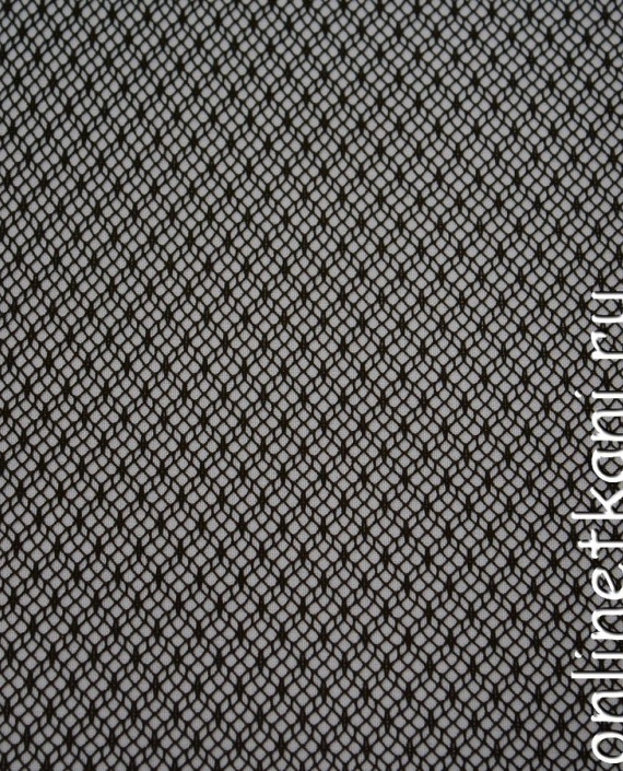 Ткань Гипюр 086 цвет коричневый геометрический картинка 2
