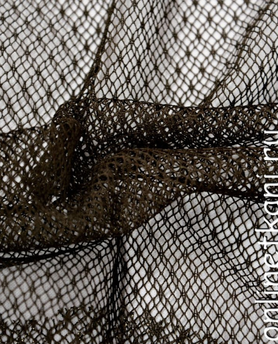 Ткань Гипюр 086 цвет коричневый геометрический картинка