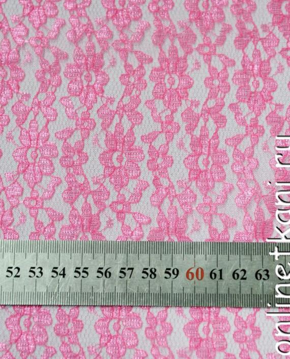 Ткань Гипюр 095 цвет розовый цветочный картинка 1