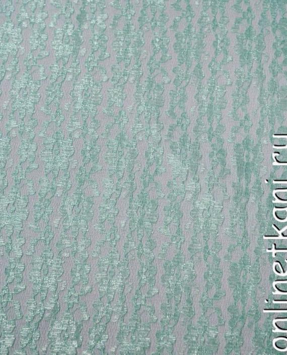 Ткань Гипюр 099 цвет зеленый цветочный картинка 2