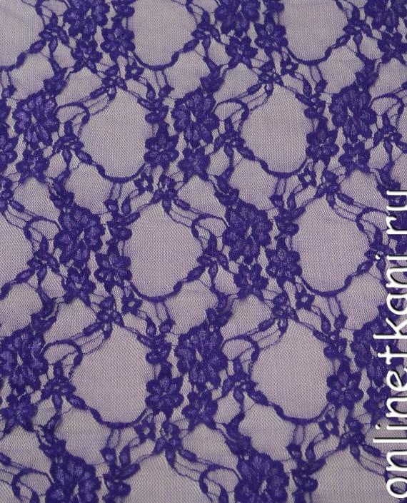 Ткань Гипюр-стрейч 102 цвет фиолетовый цветочный картинка