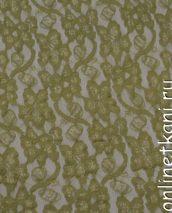 Ткань Гипюр-стрейч 103 цвет желтый цветочный картинка