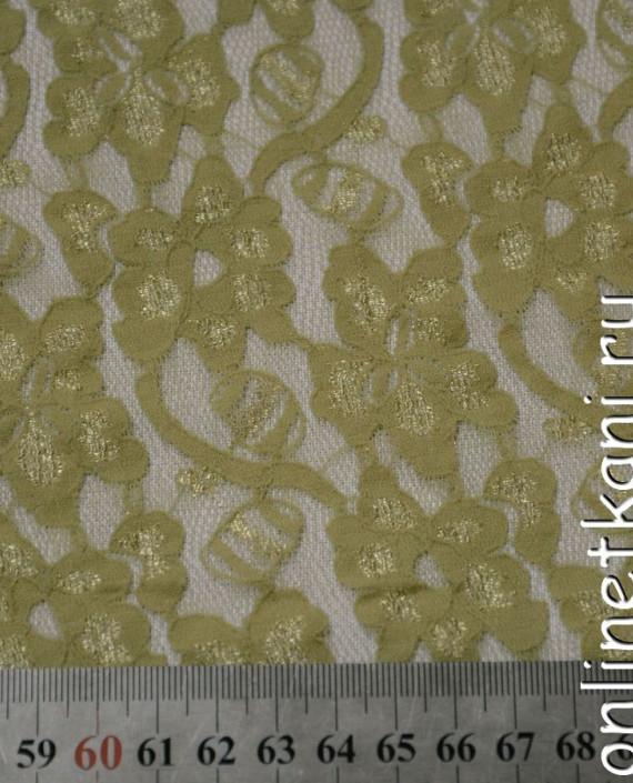 Ткань Гипюр-стрейч 103 цвет желтый цветочный картинка 1