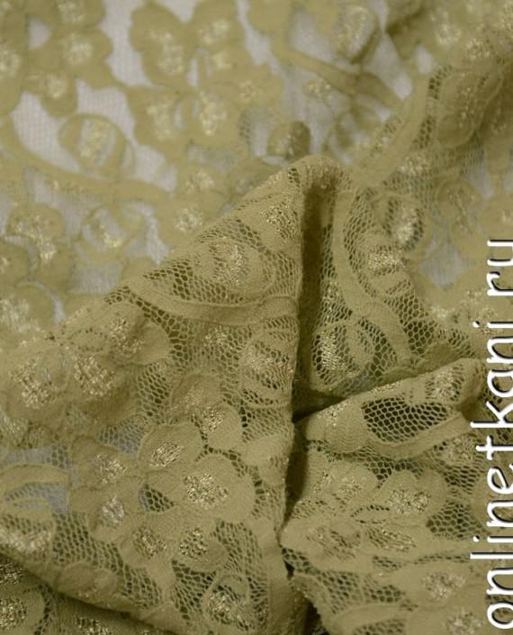 Ткань Гипюр-стрейч 103 цвет желтый цветочный картинка 2