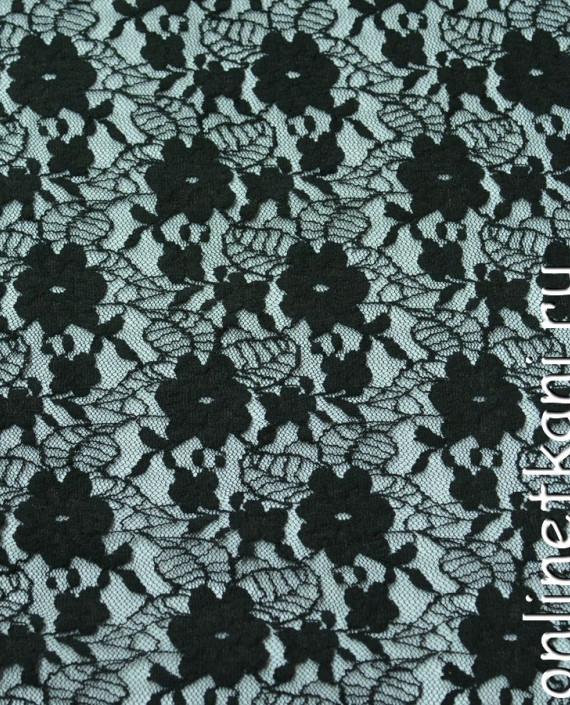 Ткань Гипюр-стрейч 107 цвет зеленый цветочный картинка