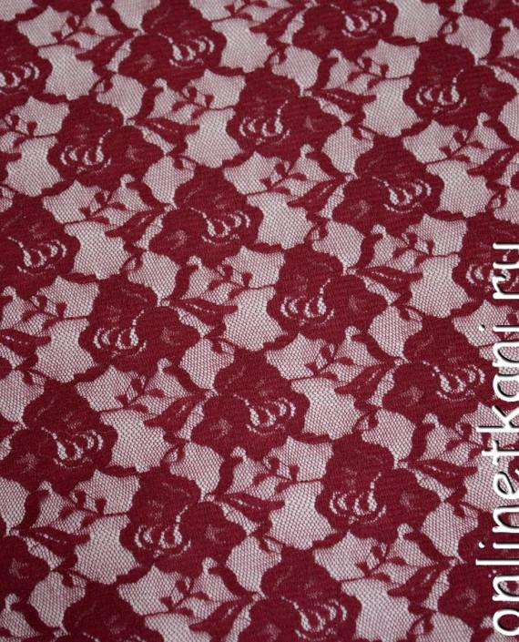 Ткань Гипюр-стрейч 111 цвет красный цветочный картинка
