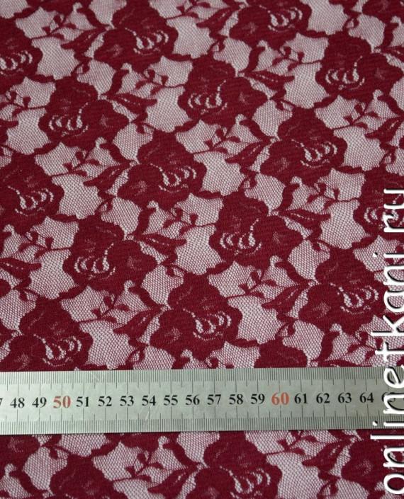 Ткань Гипюр-стрейч 111 цвет красный цветочный картинка 1