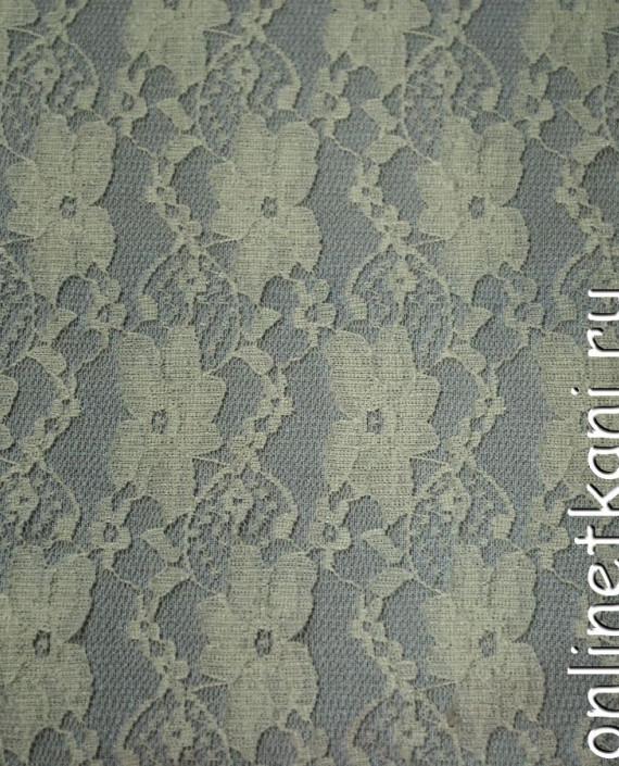 Ткань Гипюр-стрейч 113 цвет айвори цветочный картинка